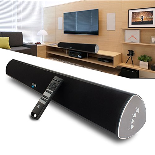 YCCTEAM TV Soundbar, 34-Inch 2.0 Channel Sound Bar TV Wireless Surround Sound Systems With Optical Coaxial Bluetooth 4.0 for TVs Phones Tablets PSP PCs by by YCCTEAM