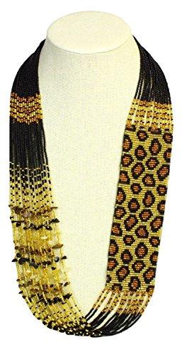 Sanyork Fair Trade NE702-236 New Leopard Skin Hand Beaded Summer Necklace Glass Seed Beads Artisan from Sanyork Fair Trade