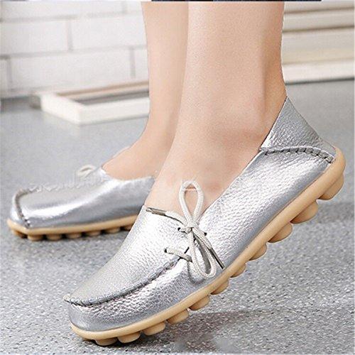 Zapatillas de Moda Sandalias | Sandalias de mujer Un gran número de zapatos de mujer | zapatos cómodos zapatos de mujer mamá perezosos | damas calzado casual solo zapatos Silber