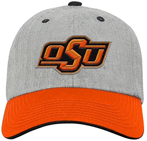 NCAA by Outerstuff NCAA Oklahoma State Cowboys Youth Boys Chainstitch Heather Twill Slouch Hat, Heather Grey, Youth One - Oklahoma Acrylic State