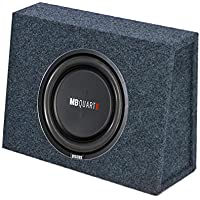 MB Quart 400 Watt 10 Inch Shallow Subwoofer and Q Power Slim Sub Box Enclosure
