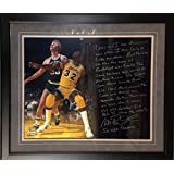 Magic Johnson & Larry Bird Facsimile Photo & Story