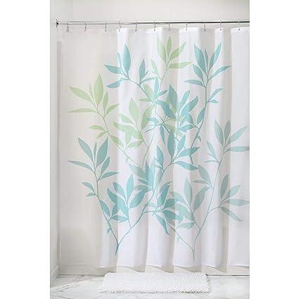 Amazon InterDesign 35650 Leaves Fabric Shower Curtain