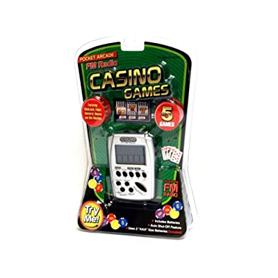 Casino 5 Games Hand Held Electronic Game with FM Radio: Toys & Games