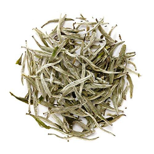 Dark Silver China (Silver Needle White Tea - Chinese Silver Tip Tea - Bai Hao Yin Zhen - White Tips Tea China - Baihao Yinzhen Loose Leaf)