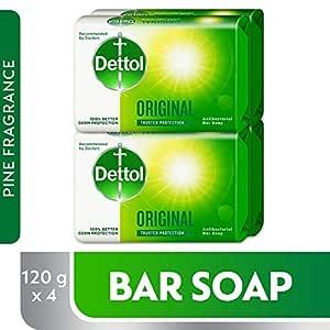 Dettol Original Anti-bacterial Bar Soap 120gm (2+2)