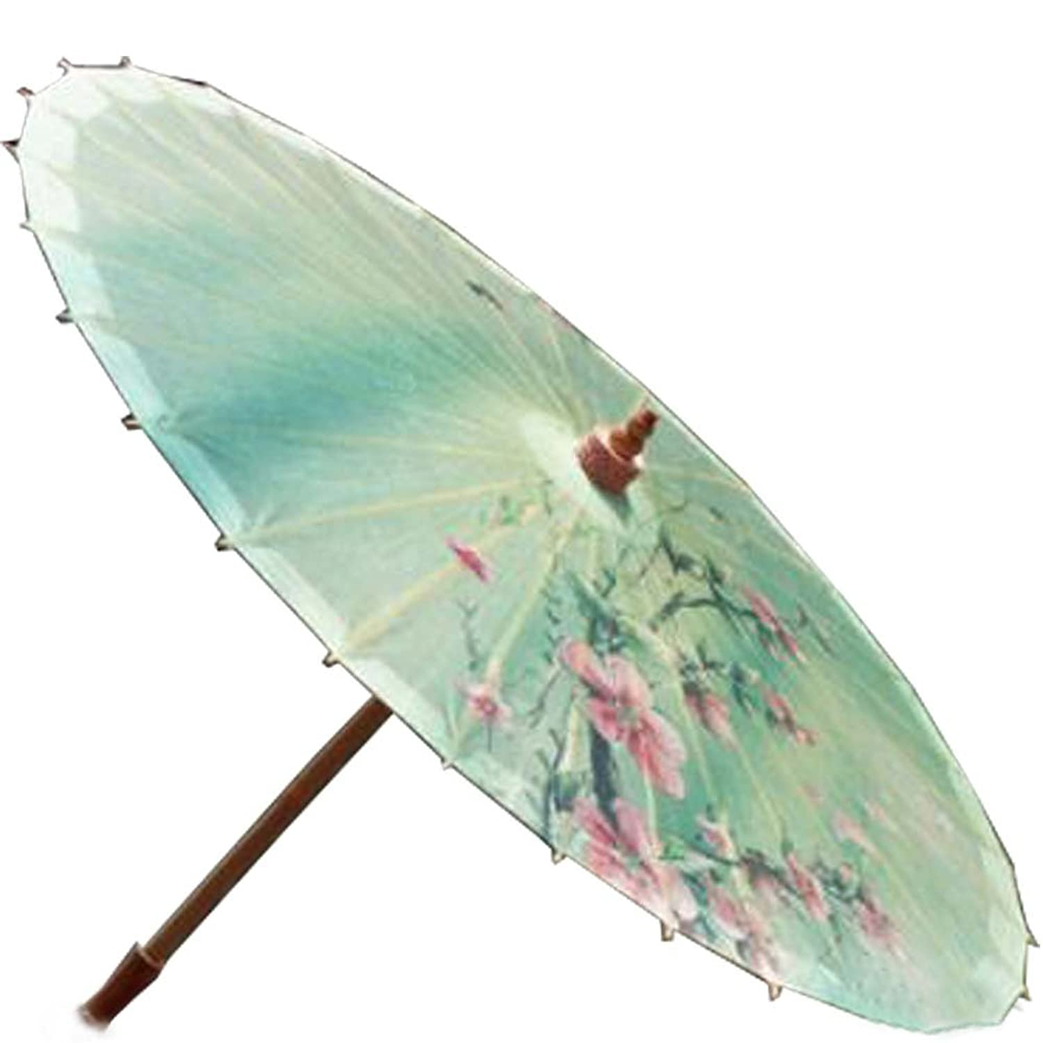Vintage Style Parasols and Umbrellas [Spring Breeze] Rainproof Handmade Chinese Oil Paper Umbrella 33 inches $33.79 AT vintagedancer.com