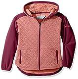 Columbia Big Girls' Lena Lake Quilted Jacket, Hot Coral Heather, Medium