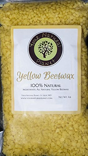 BEESWAX PELLETS, YELLOW-1LB-Must Have For Many Different Projects-Including Lotions, Salves, Body Butters, Deodorant, Lip Balm, Candle Making, and Furniture Polish