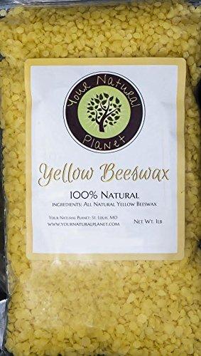 Tu planeta Natural pelotillas de cera de abeja, amarillo, 1lb-deben haber artículo para hacerlo mismo proyectos, incluyendo lociones, bálsamos, mantequillas de cuerpo, desodorante, bálsamo para los labios, cerería y muebles polaco