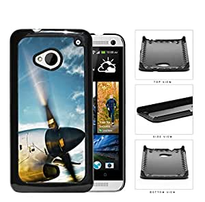 Airplane Jet Propeller Flying Through Blue Sky Hard Snap on Phone Case Cover Android HTC One M7 by Maris's Diary