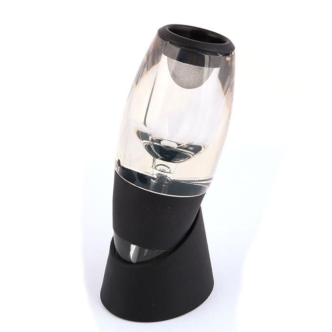 Amazon.com | eDealMax partido del vino rojo Set Botella aireador Pour tapón vertedor Decanter titular del stand: Wine Decanters