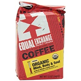 EQUAL EXCHANGE COFFEE GRND MIND BODY SOU, 12 OZ 18 Find your moment of zen with this smooth, creamy and balanced blend that has hints of almond, malt and dark chocolate.