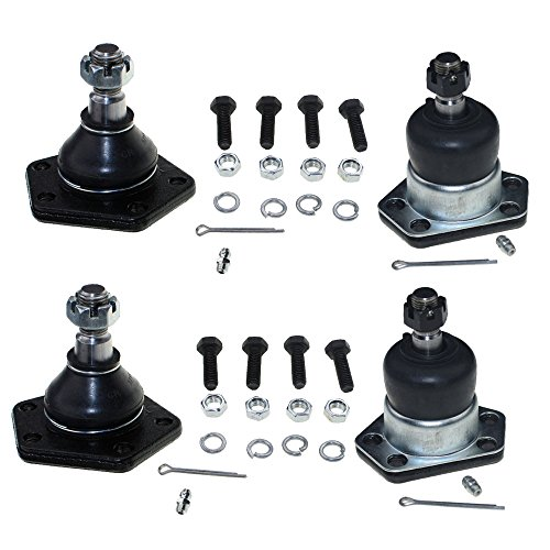 Price comparison product image 4PC Front Lower & Upper Ball Joints K5320 K5335 Kit for Chevy 1997-2005 Blazer & 1997-2004 S10 | GMC 1997-2004 Sonoma & 1997-2001 Jimmy |1997-2001 Oldsmobile Bravada | 1998-2000 Isuzu Hombre