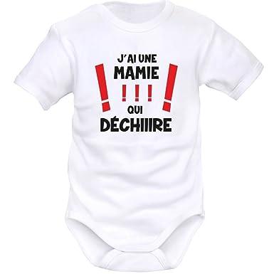 9d7950c75dc1c SIMEDIO Body bébé original   j ai une MAMIE qui déchire  Amazon.fr ...
