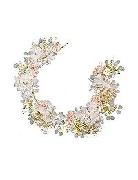 Handmade Prom Wedding Hair Accessories Hair Jewelry Bridal Flower Headdress Pearl Beads Headpieces