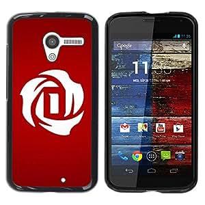 Paccase / SLIM PC / Aliminium Casa Carcasa Funda Case Cover para - Minimalist D letter Dracula - Motorola Moto X 1 1st GEN I XT1058 XT1053 XT1052 XT1056 XT1060 XT1055