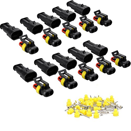 Waterproof Fil électrique Connecteur pour Moto Scooter Auto Truck Marine MA478 (2 Pin 10 Pack) low-cost