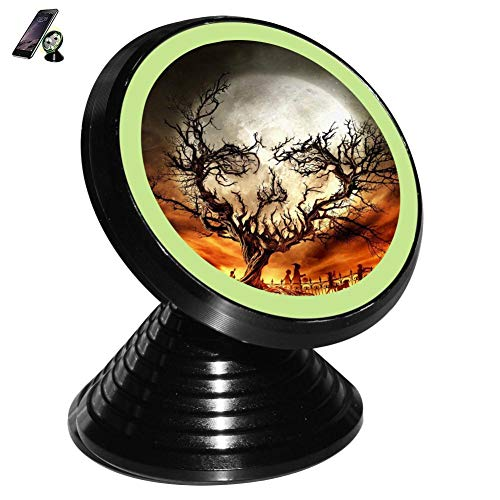 Skull Shape Withered Wood Magnetic Vehicle Mounted Mobile Phone Bracket Holder 360 with Noctilucent Function ()