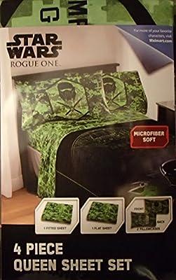 Star Wars Rouge One 4 Piece Queen Sheet Set