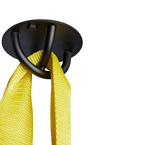 Suspension Trainer Wall & Ceiling Mount Heavy Duty Anchor Bracket For Crossfit, Olympic Gymnastics Rings, Yoga Swing & Hammock, Punching Bag & Battle Ropes Cold Rolled Steel Hook