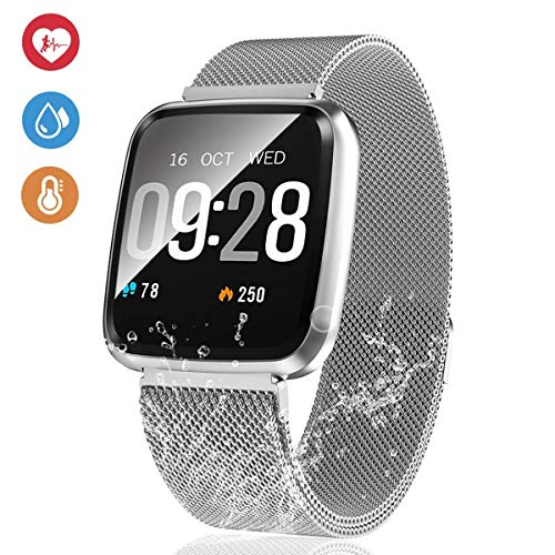 EpochAir Fitness Tracker,IP67 Waterproof Activity Tracker with Heart Rate Monitor,1.3 inch Screen Smart Watch Long battety Step Counter,Calorie Counter,Pedometer Watch for Men Woman (Best Cheap Fitness Tracker)