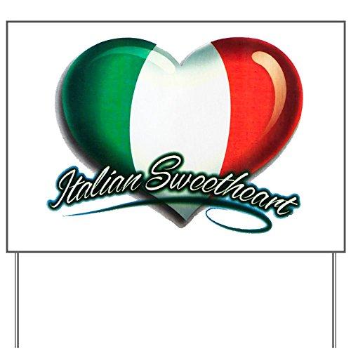(Yard Sign Italian Sweetheart Italy Flag)