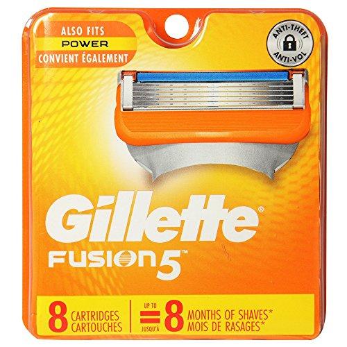 Shaving System Cartridges (Gillette Fusion 5 Power Cartridges 8 ea)