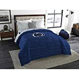 1pc NCAA Penn State Nittany Lions Comforter Twin/Full, Blue, Team Logo, College Volley Ball Themed, Sports Patterned Bedding, Unisex, Fan Merchandise, Team Spirit