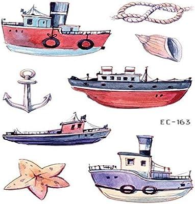adgkitb 5piezas Tatuaje de Dibujos Animados vehículo Tatuaje ...