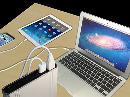 Lizone 50000mAh Extra Pro External Battery for Apple MacBook MacBook Pro MacBook Air USB QC Charger for Apple New MacBook 12 iPad iPhone 7 7 plus SE 6 6S Plus 5S 5C 5 4 Samsung HTC and more -Silver by Lizone (Image #3)