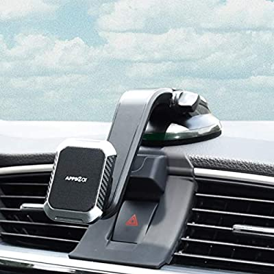 Magnetic Phone Mount, APPS2Car Universal Magnetic Phone Car Mount Built-in Strong Magnets, Windshield Dashboard Window Dash Magnetic Mount for Cell Phones