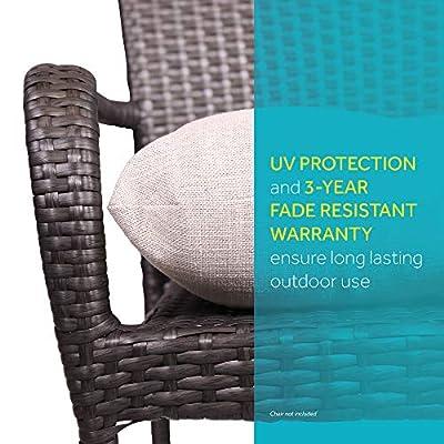 Suntastic Outdoor O'Kokomo 2-Pack Wicker Seat Cushions: Home & Kitchen