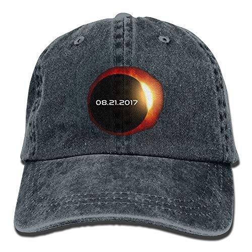 2017 Total Solar Eclipse Baseball Caps Denim Hats for Men Women ()