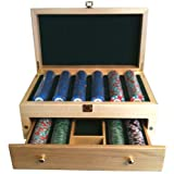 500 Wooden High End Poker Chip Case / Jewelry Box