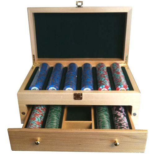 500 Wooden High End Poker Chip Case / Jewelry Box by Spinettis