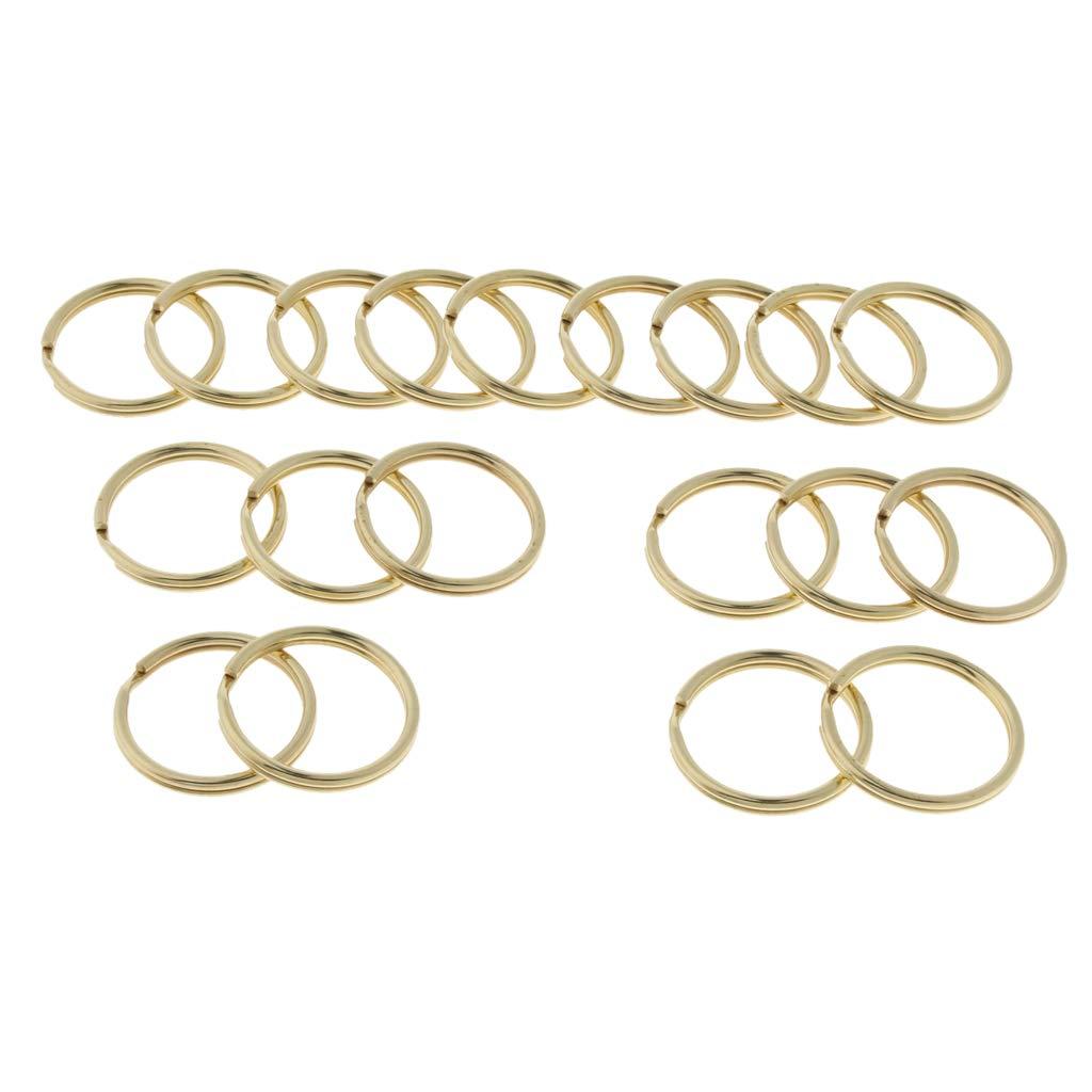 B Baosity 20 St/ück Messing Schl/üsselanh/änger Gold Schl/üsselring Split Ringe f/ür Karabiner Anh/änger
