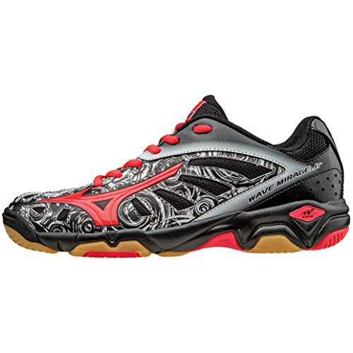 Chaussure Junior Mizuno Wave Mirage noir/rose/blanc