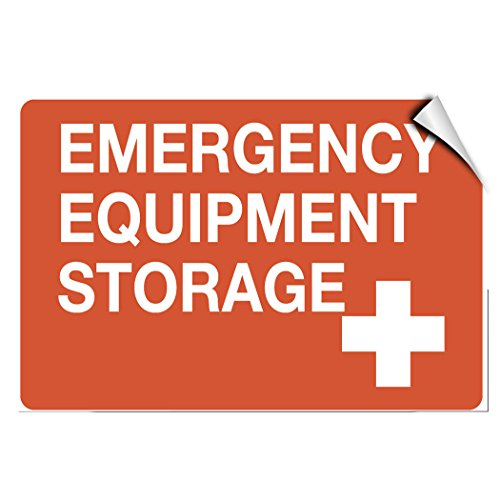 Emergency Equipment Storage Business Warehouse LABEL DECAL STICKER 7 inches x 5 inches ()