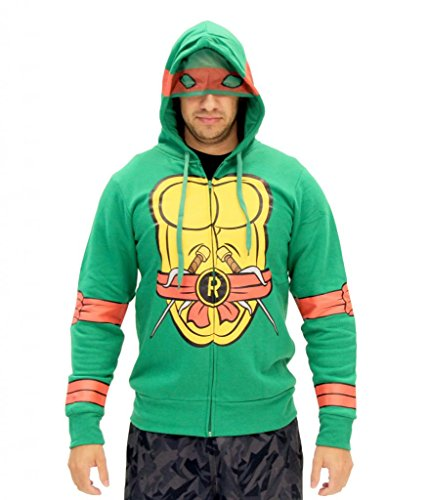 Teenage Mutant Ninja Turtles I Am Raphael Costume Zip Hoodie Size XX-Large Color Raphael (Teenage Mutant Ninja Turtle Raphael Adult Mask)