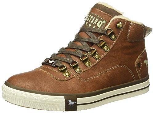Mustang Unisex-Kinder 5024-604 Hohe Sneakers, Braun (301 Kastanie), 38 EU