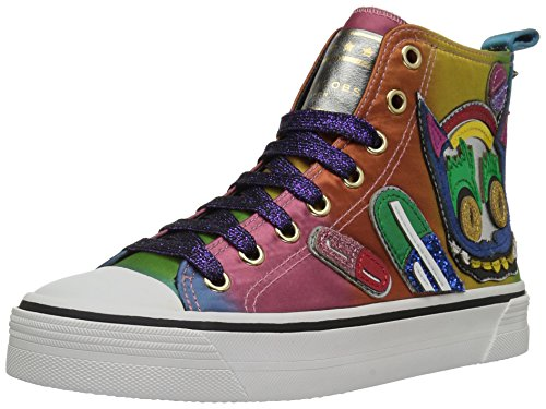 Marc Jacobs Womens Cyber Cat High Top Fashion Sneaker Rainbow Multi