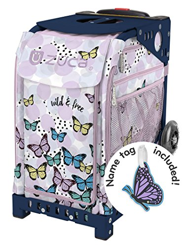 Zuca Wild & Free Sport Insert Bag and Navy Blue Frame with Flashing Wheels by ZUCA (Image #6)