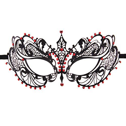Crown Laser Cut Metal Women's Masquerade Mask Mardi Gras Mask -