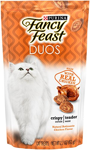 Purina Fancy Feast Duos Natural Rotisserie Chicken Flavor Cat Treats - (10) 2.1 oz. ()