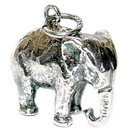RETRO CHARMS: Vintage Finished Sterling Silver 925 Large Indian Elephant Charm/Pendant V54 d8dRsD