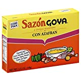 Goya Sazon Azafran Econopak 3.52 OZ(Pack of 12)