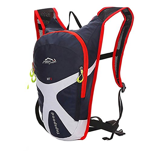 West Biking Cycling Mini Bicycle Backpack Bike Bag Outdoor Sports Rucksack For Camping Hiking Running Daypacks (Dark blue)