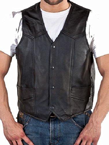 Durable Leather Black Inside Pockets