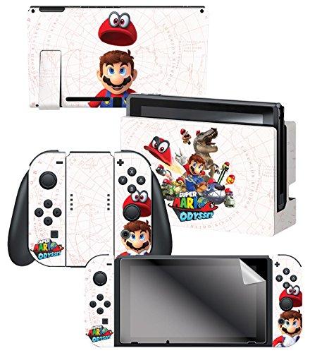 Nintendo Switch Skin   Screen Protector Set   Super Mario Odyssey  Capture Map    Nintendo Switch